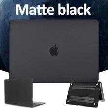 Чехол для ноутбука Apple MacBook Air 13/11/Pro 13/15 дюйма/Macbook Белый A1342/Macbook 12 дюймов (A1534) матовый черный Жесткий Чехол