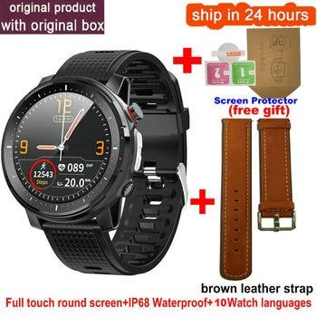 L15 Smart Watch Men 1.3inch Full-fit Round Retina Display Music Control Camera Flashlight PK L5 L9 Smartwatch IP68 Waterproof 17