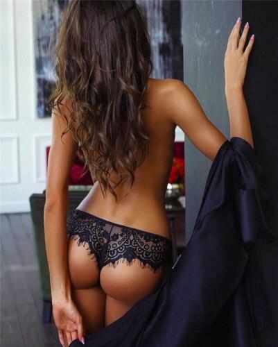Hirigin 2020 marka yeni yaz bayanlar kadın kızlar seksi şeffaf dantel külot yüksek bel iç çamaşırı G-String siyah tanga