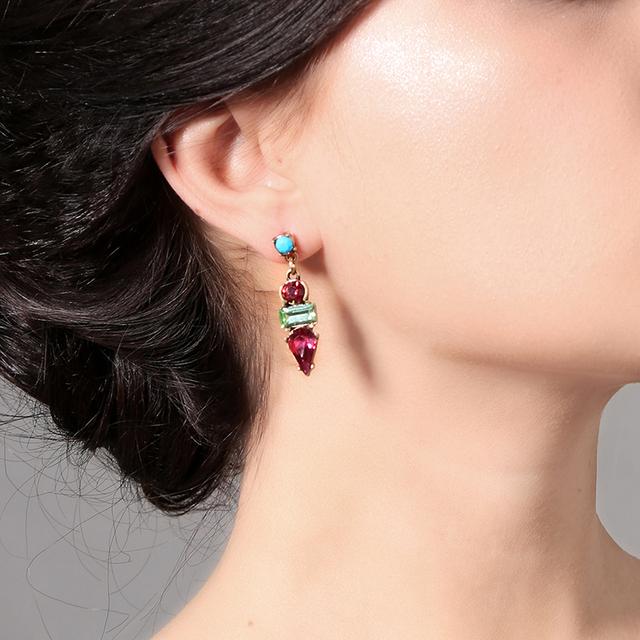 Earrings Stud Crystal Acrylic Resin Drop Earrings Korean Fashion Jewelry