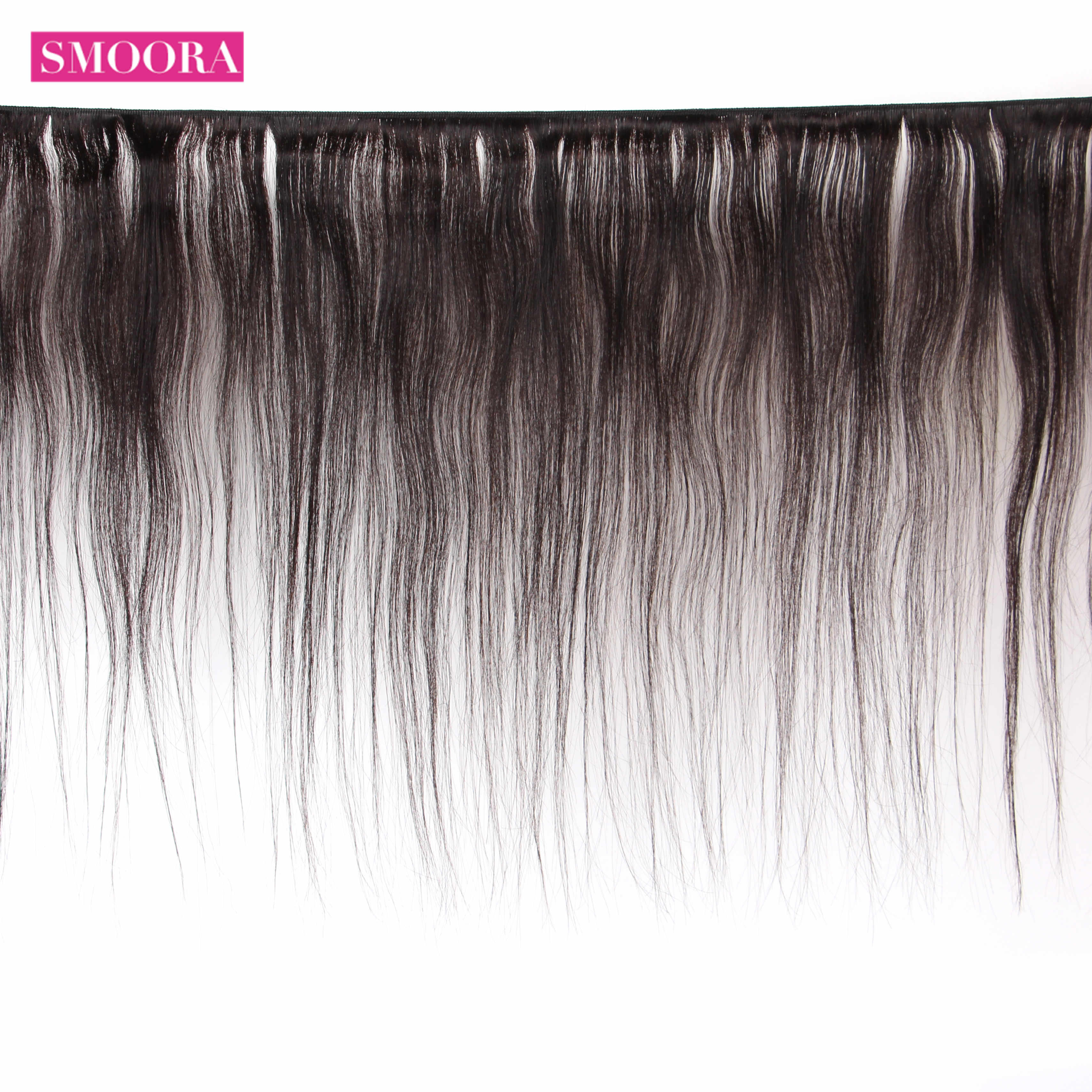 Smoora 8-28 Inch Braziliaanse Hair Weave Bundels Straight 100% Non-Remy Human Hair Bundels 1 3 4 stuks/partij Natuurlijke Kleur