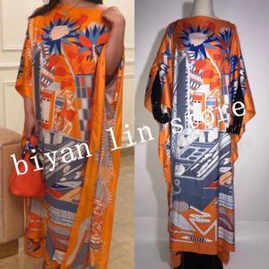Image 5 - Dress Length:130cm Bust:130cm 2020 New Fashion dresses Bazin Print Dashiki Women Long Dress/gown Yomadou Color Pattern oversize