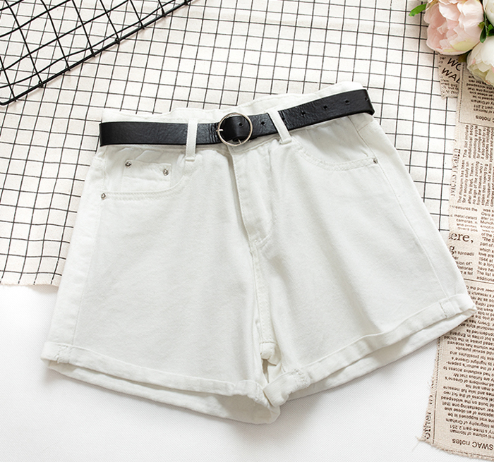 Drawstring Shorts Plus Size Casual  Gray High Waist 2020  Sexy Skinny Booty