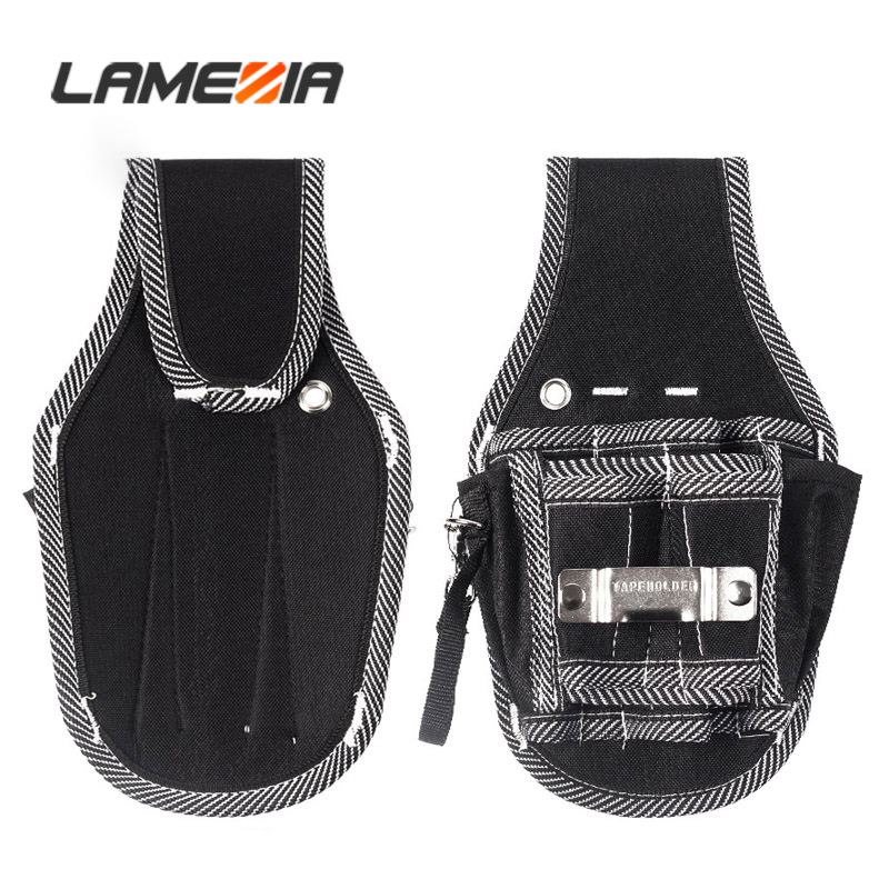 LAMEZIA Oxford Cloth Multifunction Toolkit Electrician Instrument Hardware Storage DIY Working Tools Pouch Waist Belt Toolbag