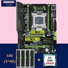 הנחה האם סט HUANANZHI X79 פרו האם עם כפולה M.2 חריץ NVMe SSD מעבד Intel Xeon E5 2640 2.5 GHz זיכרון RAM 16G (4*4G)