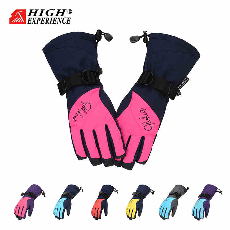 Ski Gloves For Women Waterproof Mittens Winter Women's Gloves Thermal Gloves Female Snowboard Gloves Snowboarding -30 Degree