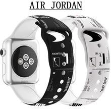 Correa de silicona para Apple watch, banda de 44mm, 42mm, 38mm y 40mm para reloj inteligente Apple watch series 3, 4, 5, 6 SE