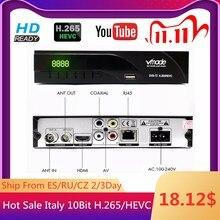 Vmade 2019最新のdvb t/DVB T2内蔵RJ45 H.265/hevc hd地上デジタル受信機のサポートyoutube M3U dvbテレビボックス