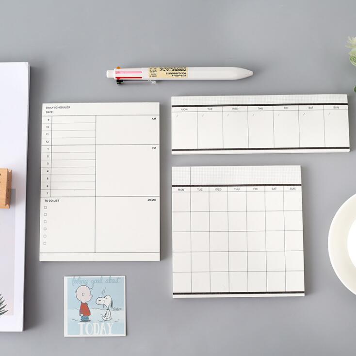 2020 clássico 50 folhas semanal mensal planejador bloco de notas para fazer lista bloco de notas paperlaria escola papelaria escritório