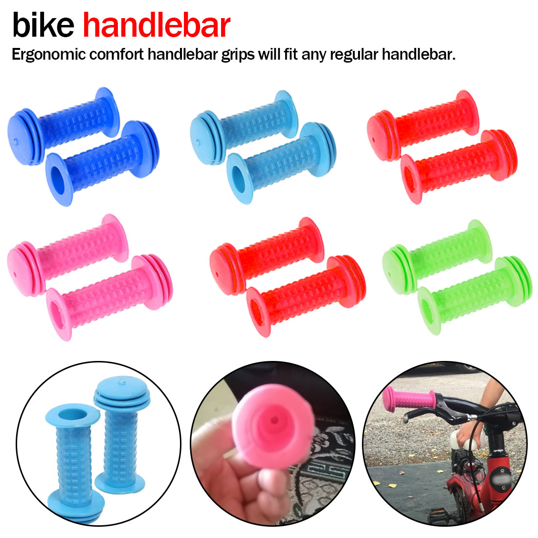 Bicycle Handlebar Grips Fixie Fixed Gear Bike Rubber 8 Colors Bicycle Grip Cover