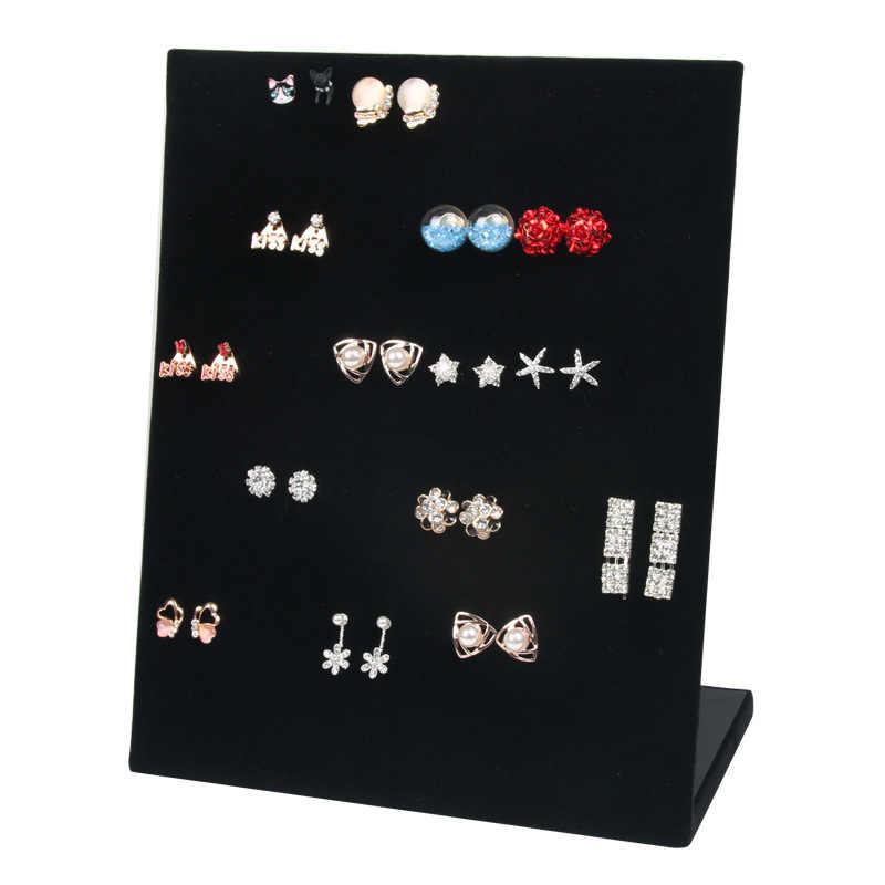 Joyero de franela pendientes de exhibición de joyería collar de perno colgante de almacenamiento estante de exhibición caja de regalo