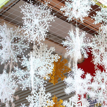 Christmas White Snowflake Decor For home Hanging Pendants New Year 2021 Gifts Xmas Tree
