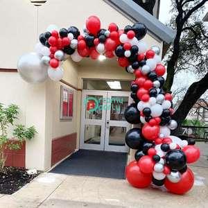 Image 1 - 161 шт DIY красный черный шар гирлянда арочный комплект серебряный белый шар для дня рождения ребенка душ свадьбы вечерние украшения
