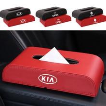 1 Uds nuevas de cuero caja de pañuelos de coche compartimentos, soporte accesorios para Mazda 3 5 6 323 626 CX-3 CX-4 CX-5 CX-7 CX-9 Axela 6 RX8 7 MX3 MX5