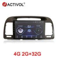 Táctil 2G + 32G Android 9,1 coche multimedia para Toyota Camry 2002-2006 reproductor de dvd de coche gps navegación coche accesorio 4G internet