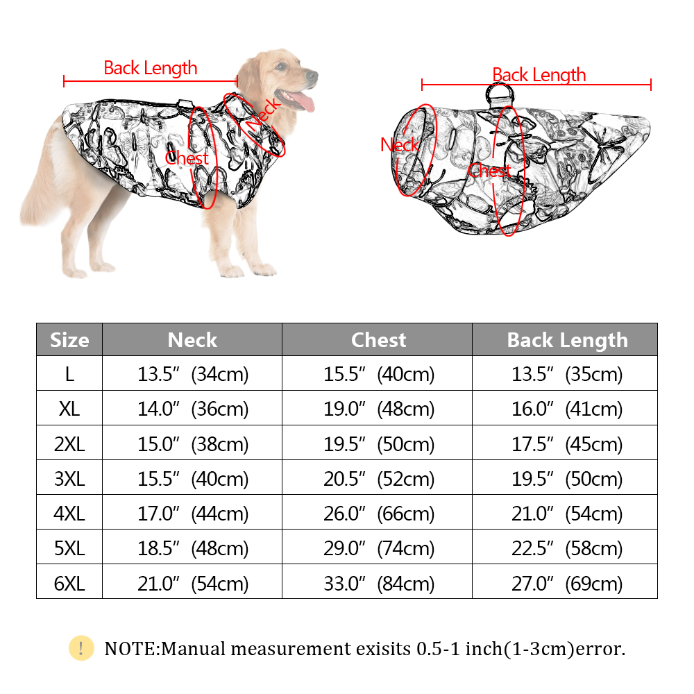 Waterproof Dog Jacket for Small/Medium/Large Dogs as Winter Clothing 5