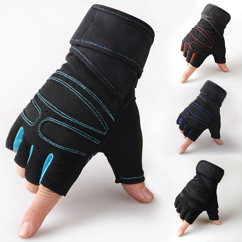 Training Gloves Weight Exercise Body-Building Fitness Sports Half-Finger L/XL