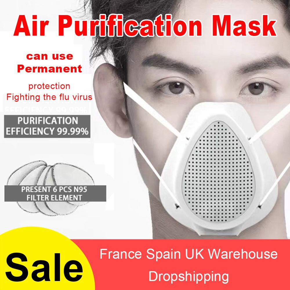 Smart Electric Mask Air Purification Anti-coronary Virus Anti-fog Haze Anti-pollution PM2.5 Health Valve With Breathing Valve