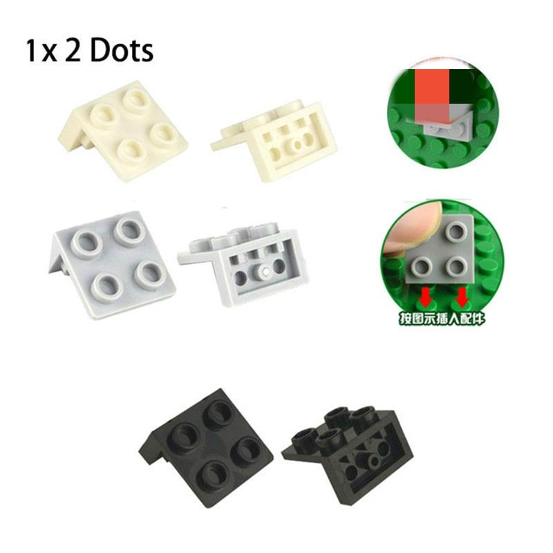1*2 2*2 Dots Building Blocks Brackets Baseplates Brick Parts Leduo Figures DIY Enlighten Block Toys Accessory