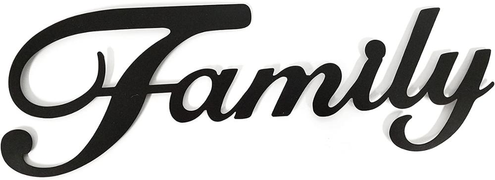 Family Black Wall Word Home Decoration