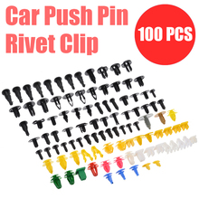 New 100pcs Plastic Mixed Auto Door Clip Trim Bumper Rivet Panel Push Pin Engine Fender Fastener Kit
