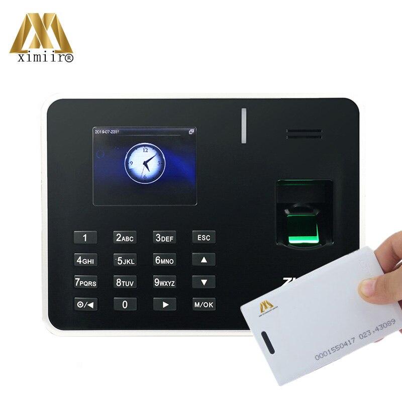 TCP/IP биометрический отпечаток пальца посещаемость времени ZK K50 с RFID картой посещаемость времени машина отпечатков пальцев время часы