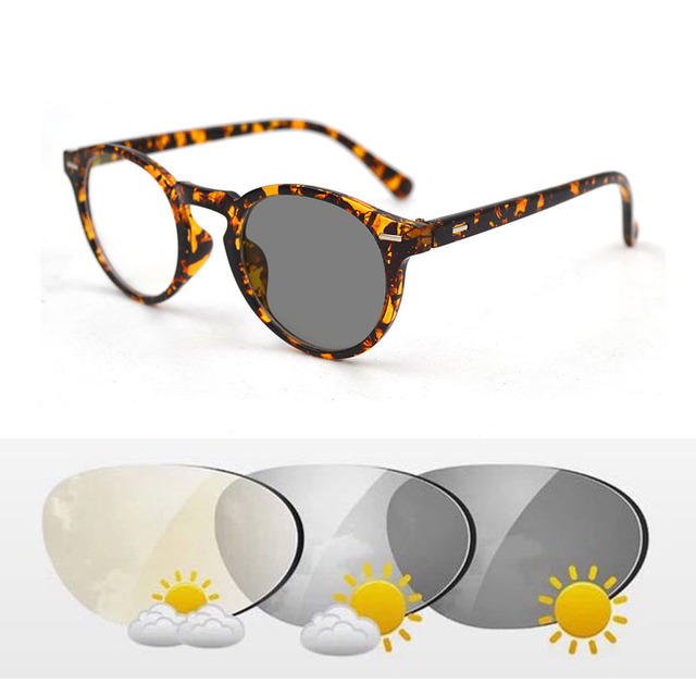 Intelligent Photochromic Bifocal Reading Glasses magnifier Unisex Reader Sunglasses Look Near Far Rice Nail Presbyopic Gafas D5