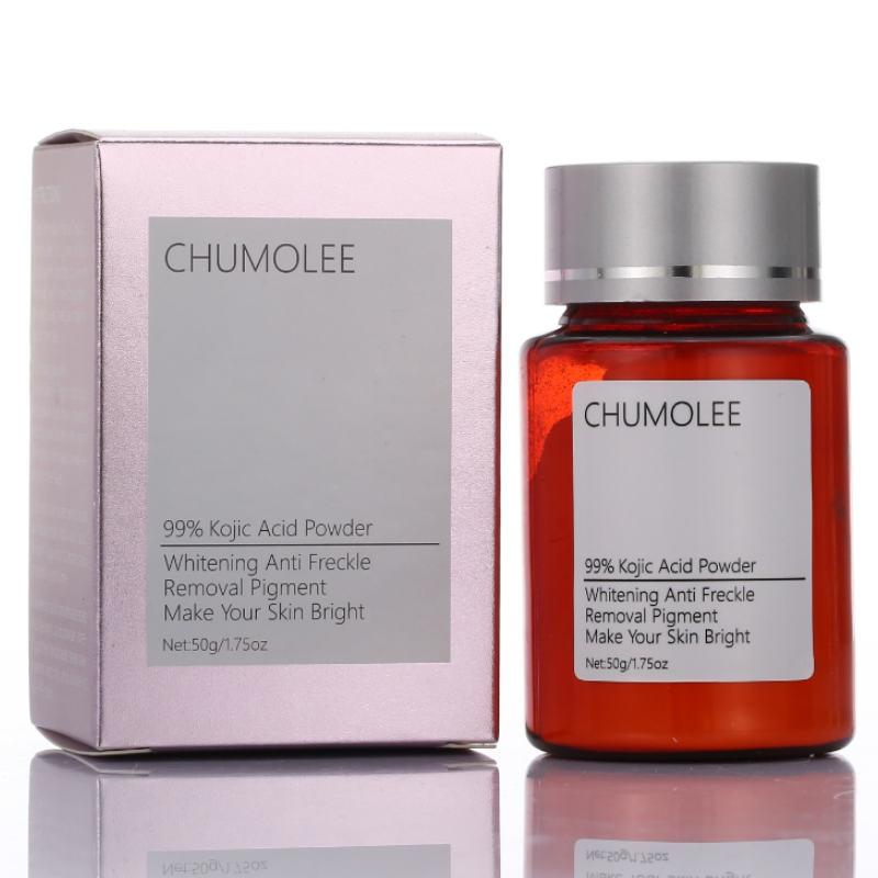 CHUMOLEE Pure 99% Kojic Acid Powder Whitening Face Cream Remove Freckle Melasma Acne Scars Pigment Melanin Dark Sopts Face Care