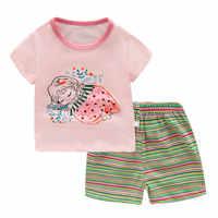 Saileroad 2020 novo verão bonito menina princesa pijamas para meninas meninos algodão pijamas crianças pijamas homewear conjuntos de roupas