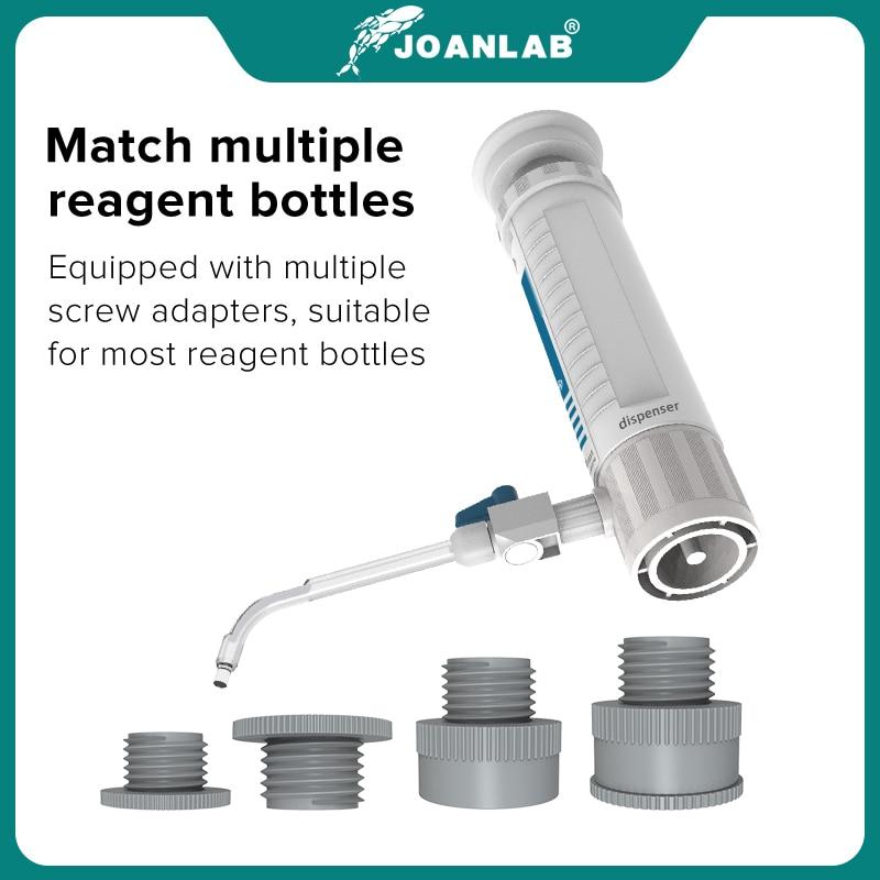 JOANLAB Official Store Bottle Top Dispenser Adjustable Quantitative Laboratory Dispenser Autoclavable Lab Equipment With Bottle 4