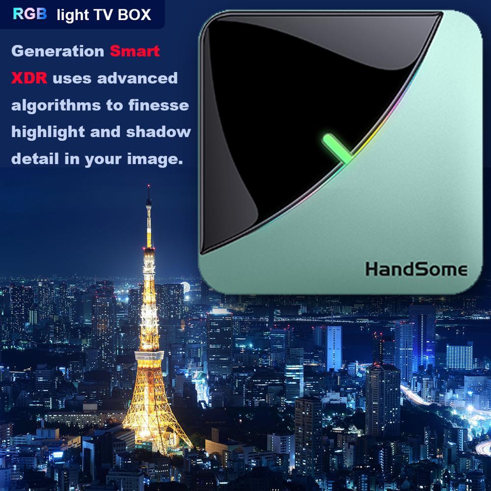 Iptv A95X F3 Air 8K RGB Licht TV Box Android 9,0 Amlogic S905X3 4GB 64GB Dual Wifi 4K 60fps Netflix Youtube Smart TV A95X Airxxx