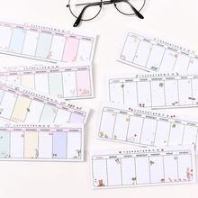 Cute Kawaii Weekly Planner Agenda Schedule Memo Pad Sticky Notes School Office Kids High Quanlity New Arrive