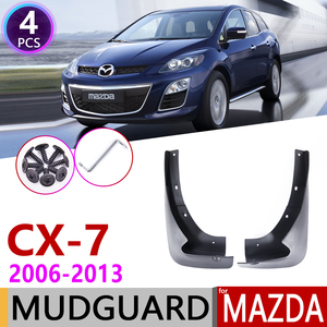 Image 1 - Avant Bavette pour Mazda CX 7 2006 ~ 2013 CX 7 CX7 Garde Boue Garde Boue Éclaboussures Bavettes Garde Boue Accessoires 2007 2008 2009 2010 2011 2012