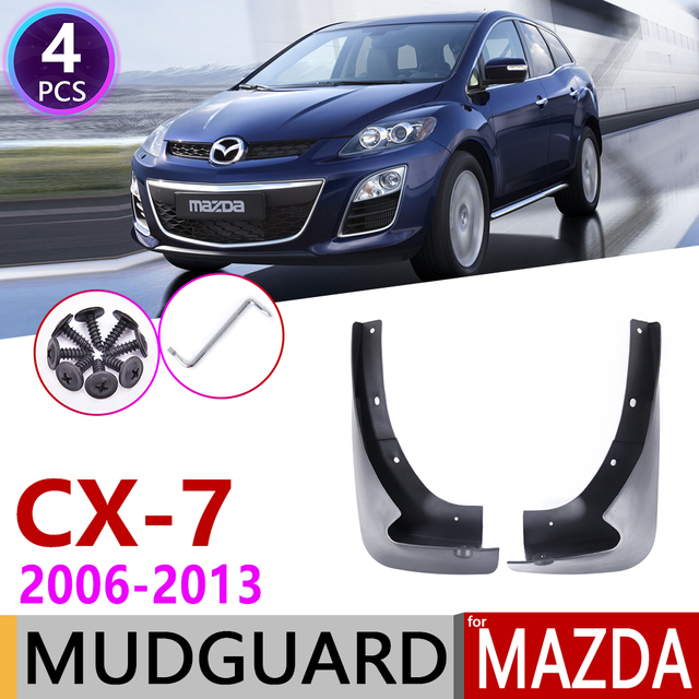 Avant Bavette pour Mazda CX 7 2006 ~ 2013 CX 7 CX7 Garde Boue Garde Boue Éclaboussures Bavettes Garde Boue Accessoires 2007 2008 2009 2010 2011 2012