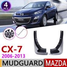 الجبهة Mudflap لمازدا CX 7 2006 ~ 2013 CX 7 CX7 درابزين واقي من الطين سبلاش اللوحات اقي خلفي من اكسسوارات 2007 2008 2009 2010 2011 2012
