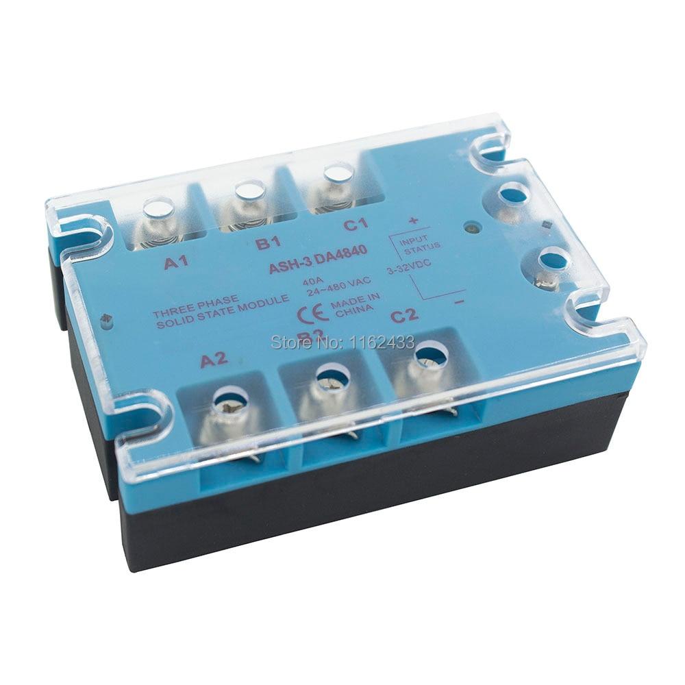 Трехфазный преобразователь постоянного тока в переменный ток 40A 90 480VAC твердотельный реле/SSR ASH 3 DA4840|relay base|relay ledrelay cpu | АлиЭкспресс