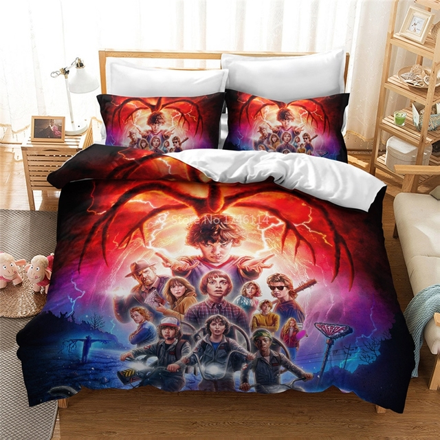STRANGER THINGS THEMED 3D BEDDING SET (10 VARIAN)