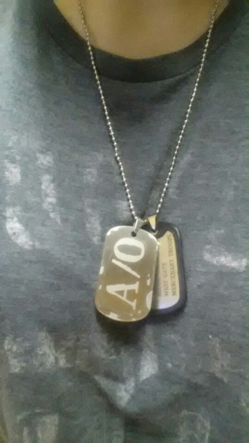 A/O Dog Tags Men's Pendants Necklaces 10