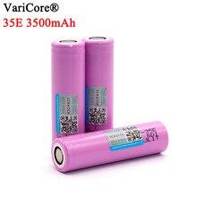 4-40 pièces VariCore 35E original 18650 puissance batterie au lithium 3500mAh 3.7v 25A haute puissance INR18650 35E adaptateur pour outils électriques