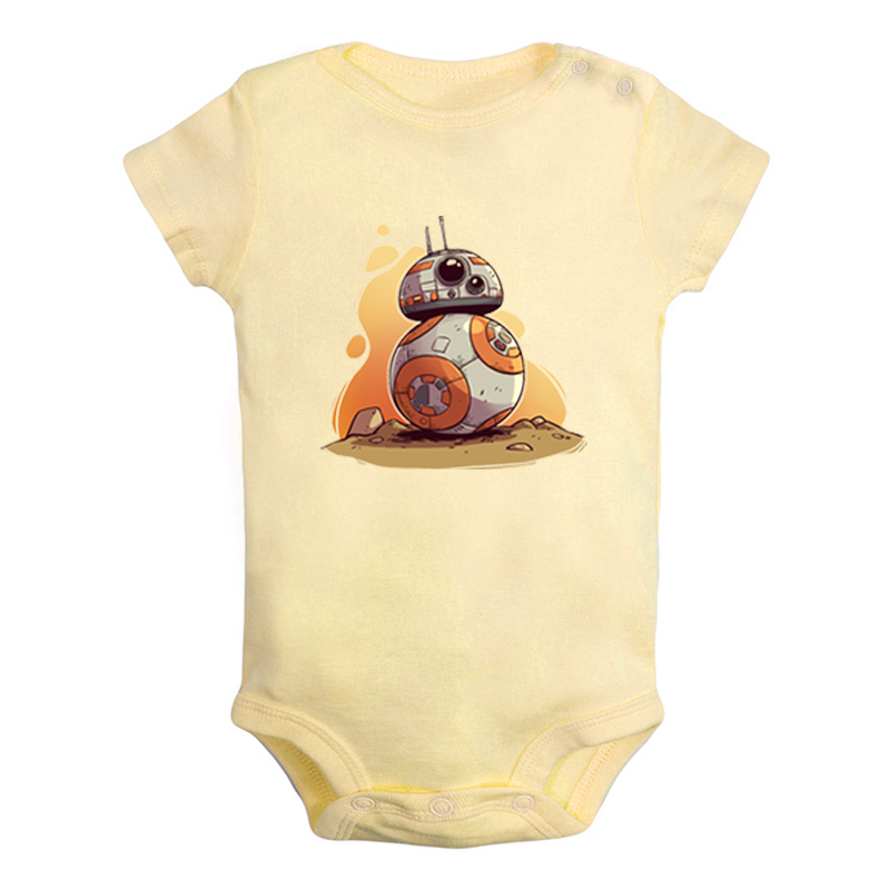 Star Wars The Force Awakens Resistance BB-8 Newborn Baby Boys Girls Outfits Jumpsuit Print Infant Bodysuit Clothes Cotton Sets