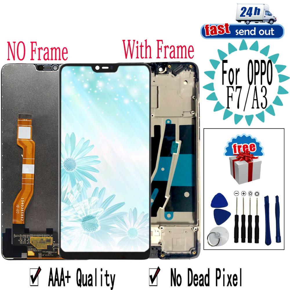 """6.23"""" F7 LCD For OPPO A3 LCD Display CPH1819 CPH1821 Touch Screen Digitizer Assembly Replacement with Frame For OPPO F7(China)"""