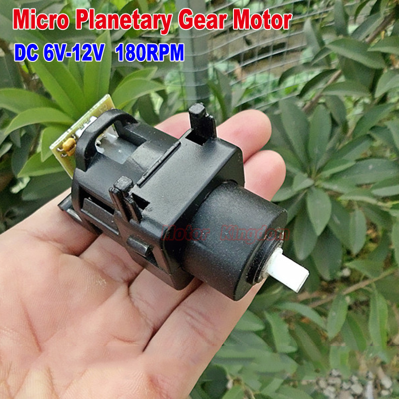 DC 6V~12V 8V 120RPM Micro <font><b>370</b></font> Planetary Gearbox Gear <font><b>Motor</b></font> Speed Reduction Plastic Reducer Square Shaft <font><b>Motor</b></font> DIY Toy Model image