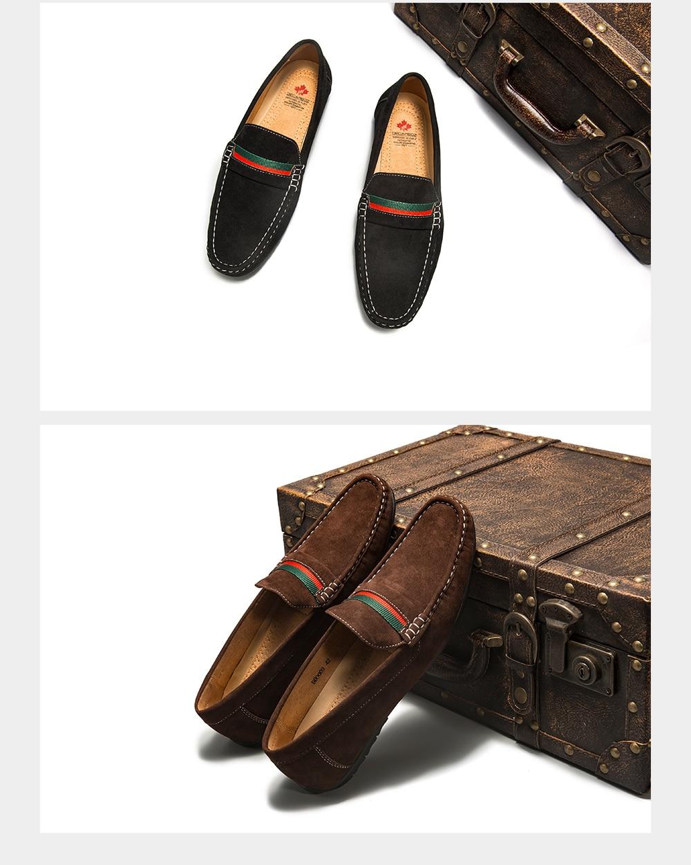 H728775e5763f4cfca0c0f9a3280048c7N Men Loafers shoes 2020 Autumn Fashion Moccasins Footwear Suede Slip-On Brand Men's Shoes Men Leisure Walking Men's Casual Shoes