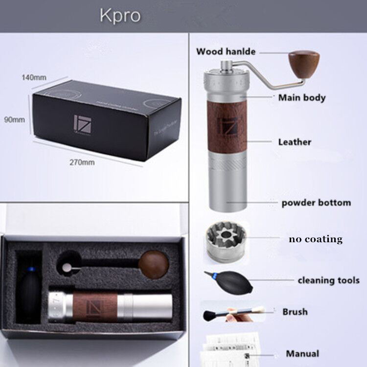 Image 5 - 1 pc New 1zpresso K pro k burr super portable coffee grinder coffee mill grinding super manual coffee bearing recommedElectric Coffee Grinders   -