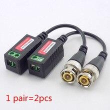 1 пара CCTV Согласующий трансформатор для видеоизображения, витая Balun пассивные трансивера BNC разъем 3000FT UTP кабель питания Cat5 адаптер Аксессуары C12