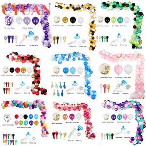 113 Uds globos para Baby Shower globos de fiesta guirnalda arco confeti Ballon boda Fondo globo de la fiesta de cumpleaños de los niños Decoración