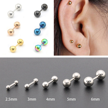Stud-Earing Barbell Body-Jewelry Ear Piercing Helix-Bar Tragus Stainless-Steel Cartilage