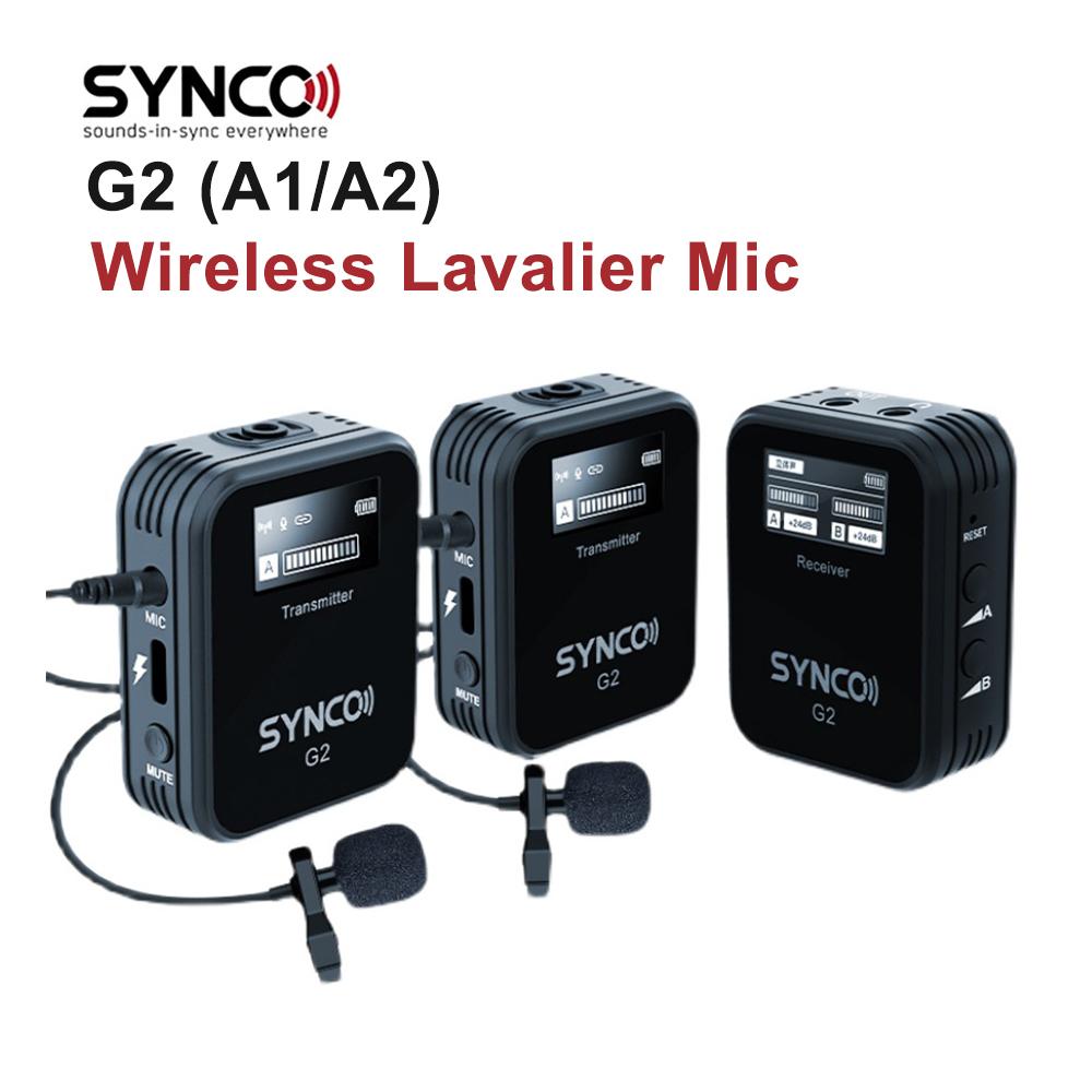 [해외] SYNCO G2 A1 A2 무선 라 발리에 마이크 70M 전송 콘덴서 스마트 폰 DSLR 카메라 실시간 - SYNCO G2 A1 A2 무선 라