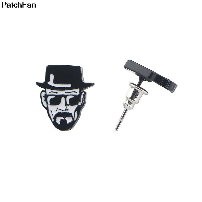 Patchfan Breaking Bad earrings enamel Zinc Charm creative party favor women GF gilrs Souvenir present jewelry for fans A2393