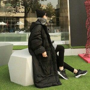 Image 5 - EWQ Chaqueta de invierno con capucha y bolsillos dobles para mujer, Abrigo acolchado de algodón de manga larga con cremallera, AH53012L, a la moda, 2020